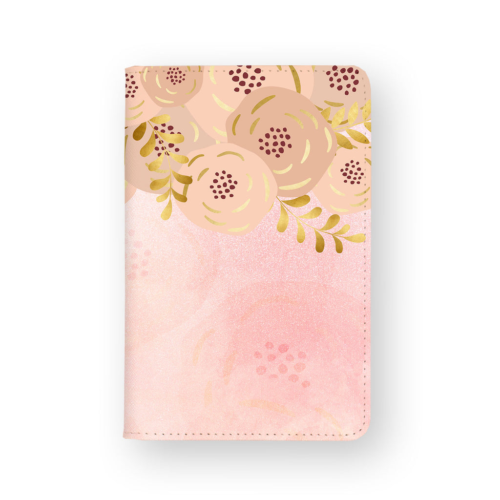 front view of personalized RFID blocking passport travel wallet with 02 design