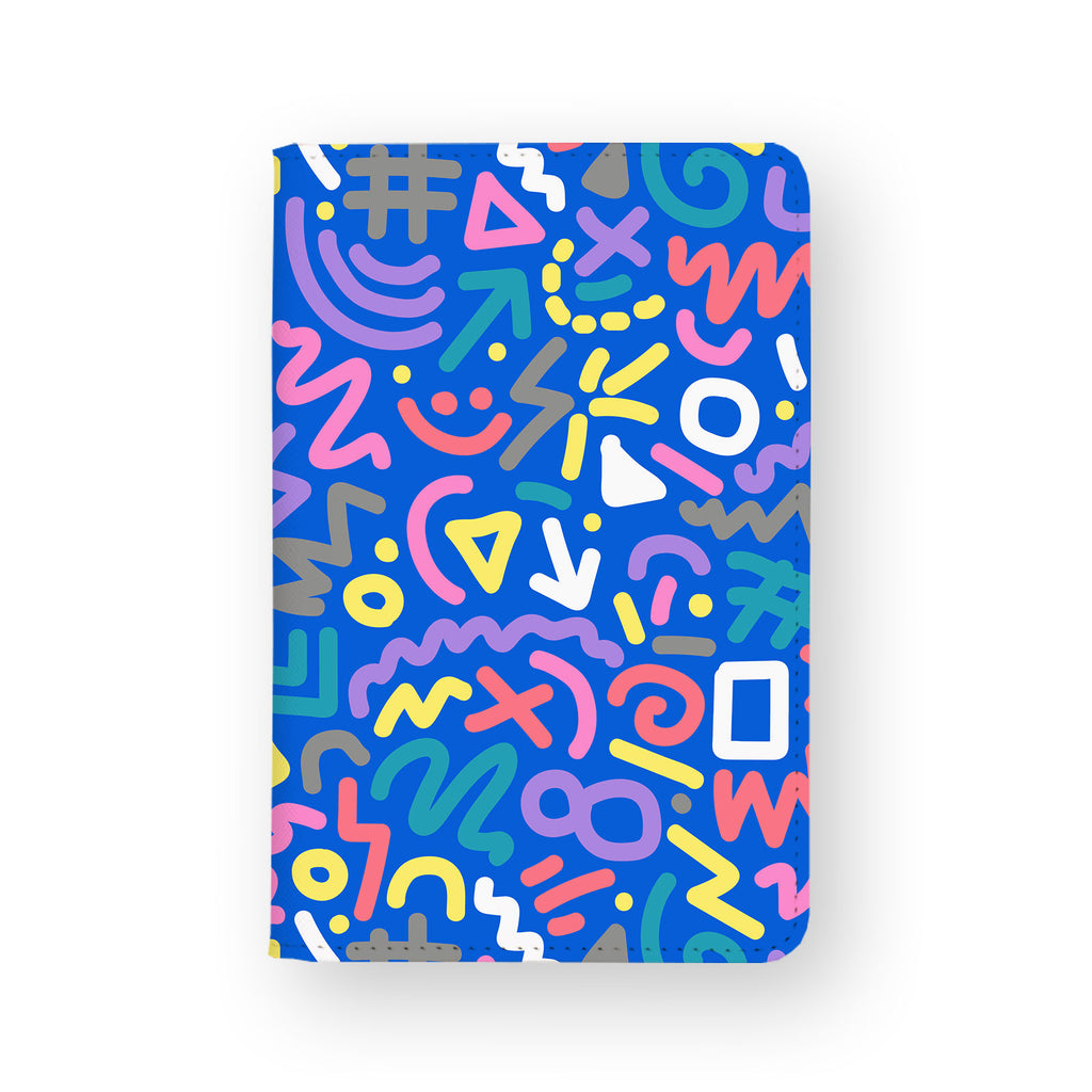 front view of personalized RFID blocking passport travel wallet with 1 design