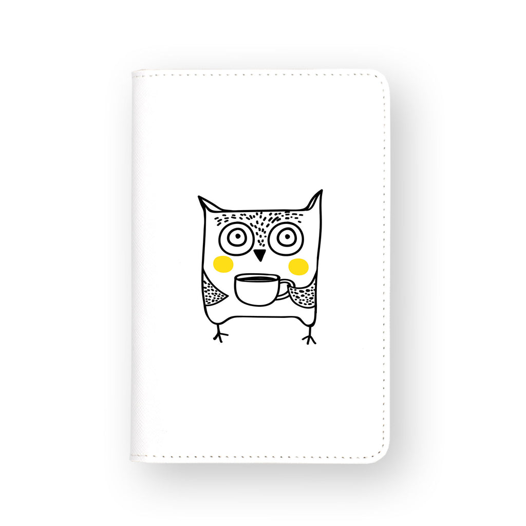 front view of personalized RFID blocking passport travel wallet with 5 design
