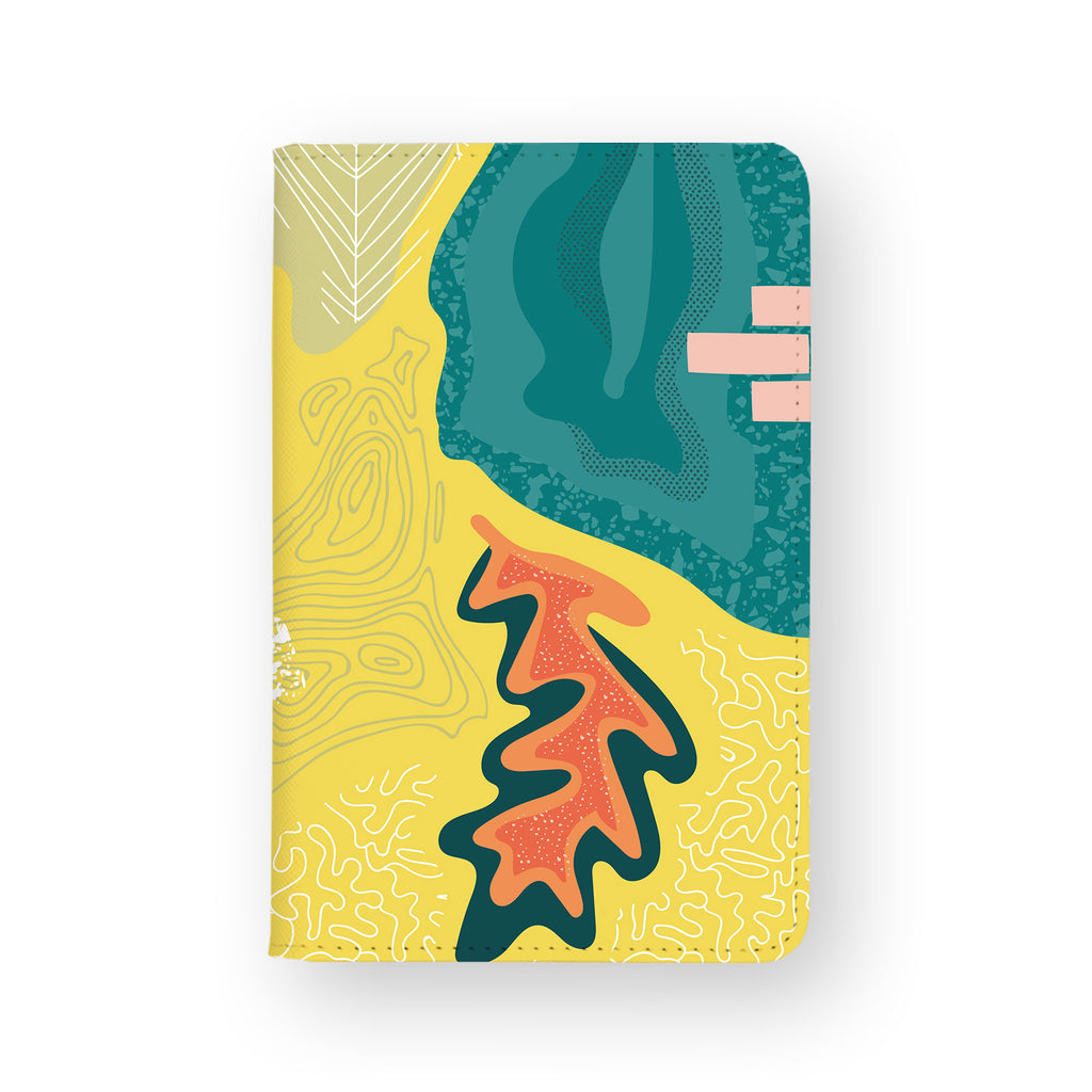 front view of personalized RFID blocking passport travel wallet with 7 design