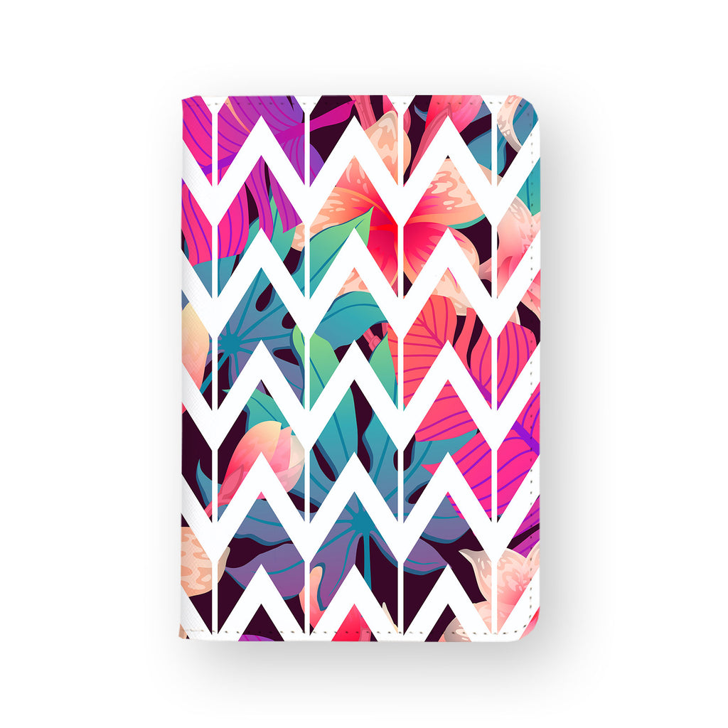 front view of personalized RFID blocking passport travel wallet with 07 design