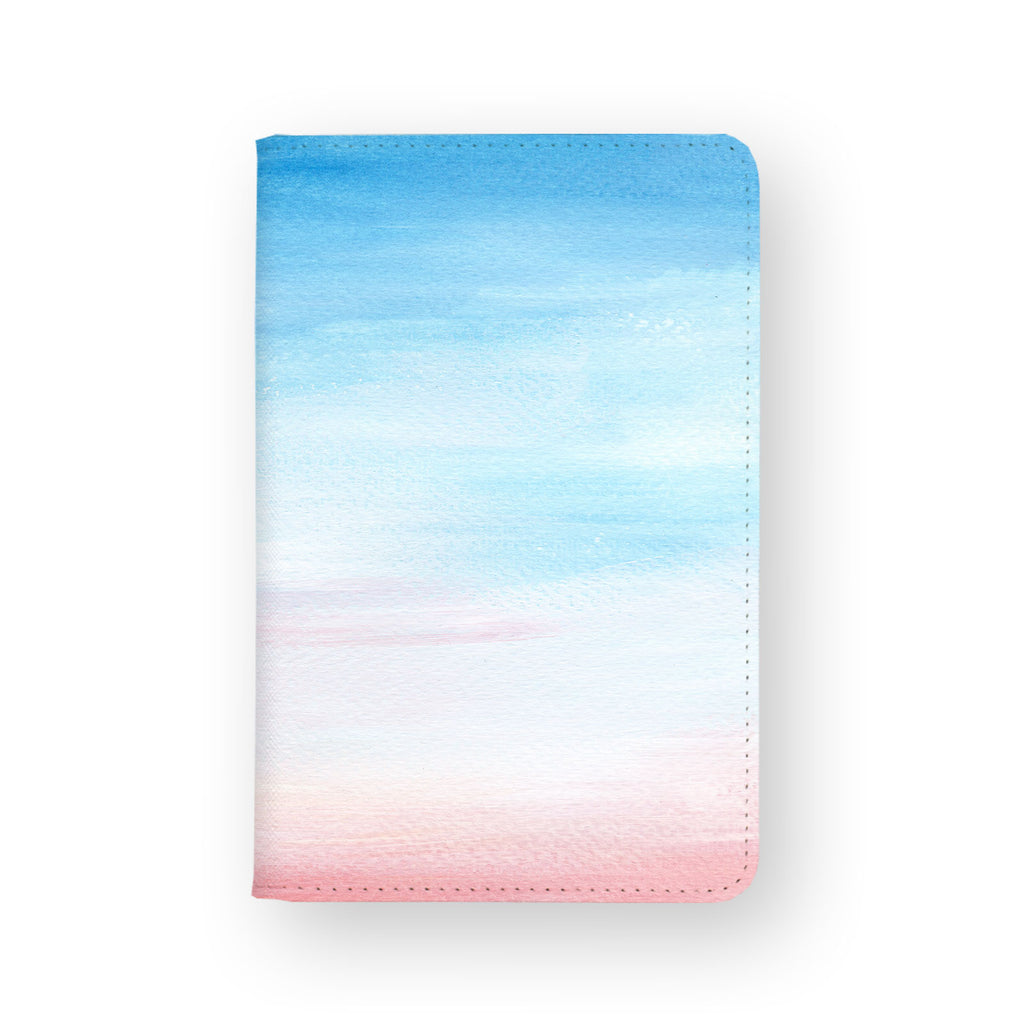 front view of personalized RFID blocking passport travel wallet with 6 design