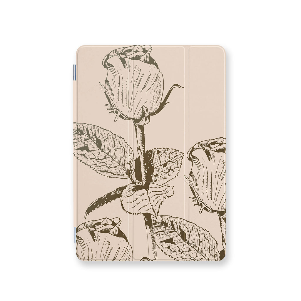 front view personalized iPad case smart cover with 6 design