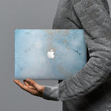 hardshell case with Marble Gold design combines a sleek hardshell design with vibrant colors for stylish protection against scratches, dents, and bumps for your Macbook