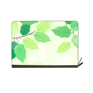 front view of personalized Macbook carry bag case with Leaves design