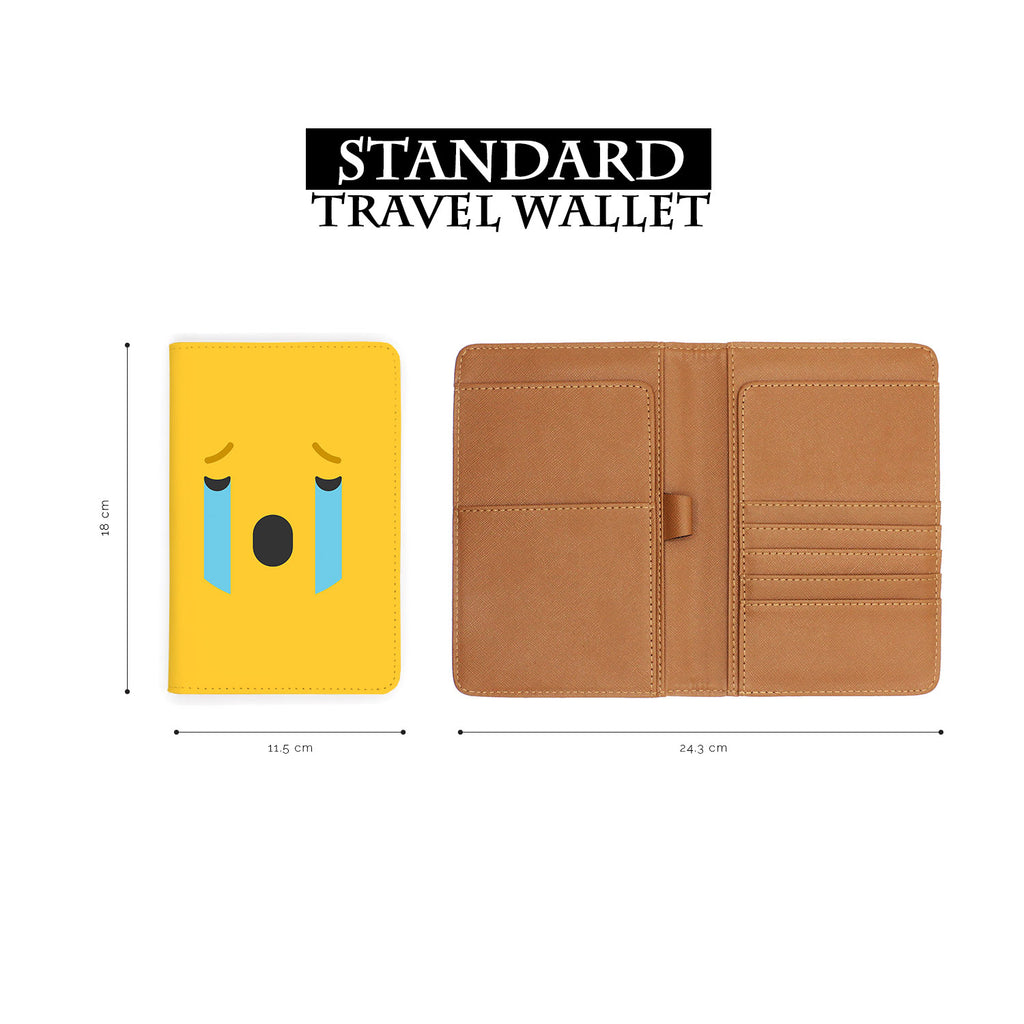 standard size of personalized RFID blocking passport travel wallet with Emoji 2 design