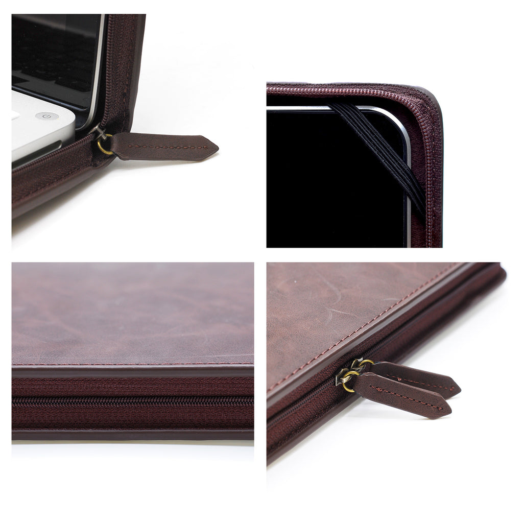 detail view of personalized Macbook carry bag case with Luxury design