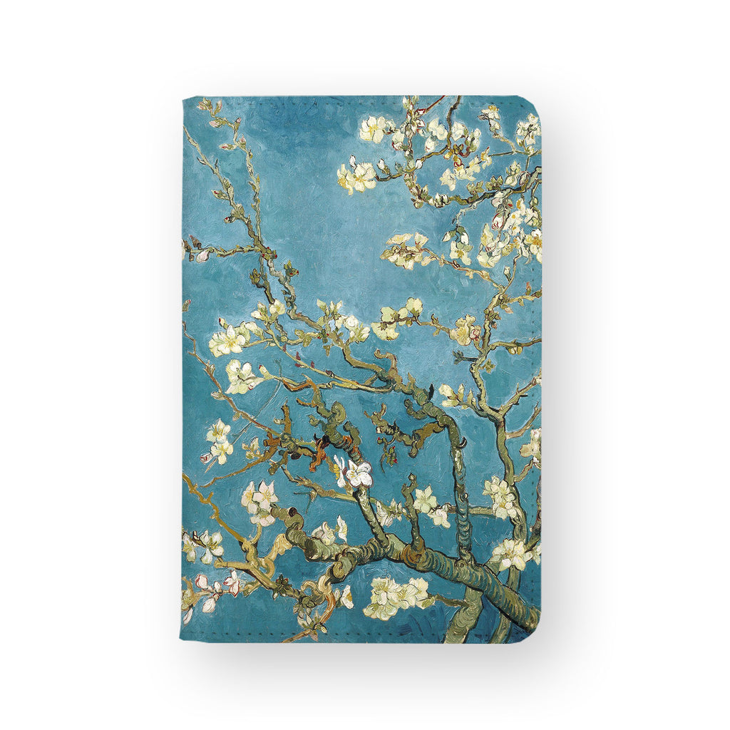front view of personalized RFID blocking passport travel wallet with Oil Painting design