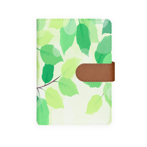 front view of personalized personal organiser with Leaves design