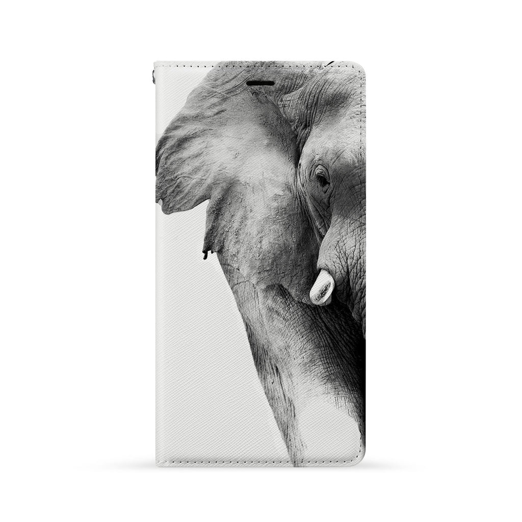 Front Side of Personalized iPhone Wallet Case with Elephant design