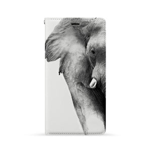 Front Side of Personalized Huawei Wallet Case with Elephant design