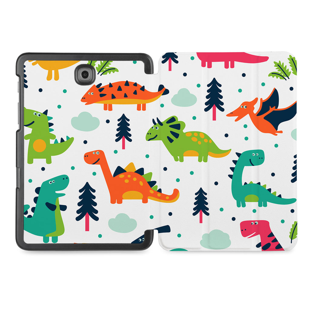 the whole printed area of Personalized Samsung Galaxy Tab Case with Dinosaur design