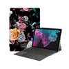 the Hero Image of Personalized Microsoft Surface Pro and Go Case with Black Flower design