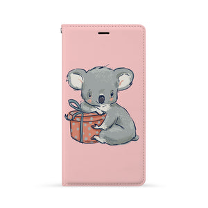 Front Side of Personalized iPhone Wallet Case with Koala And Friends design