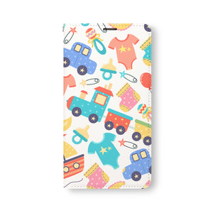 Front Side of Personalized Samsung Galaxy Wallet Case with Baby design