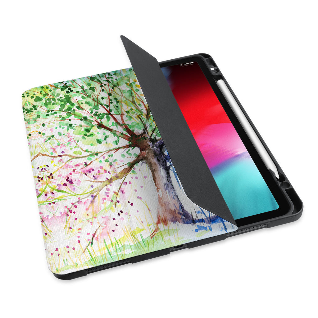 personalized iPad case with pencil holder and Tree design