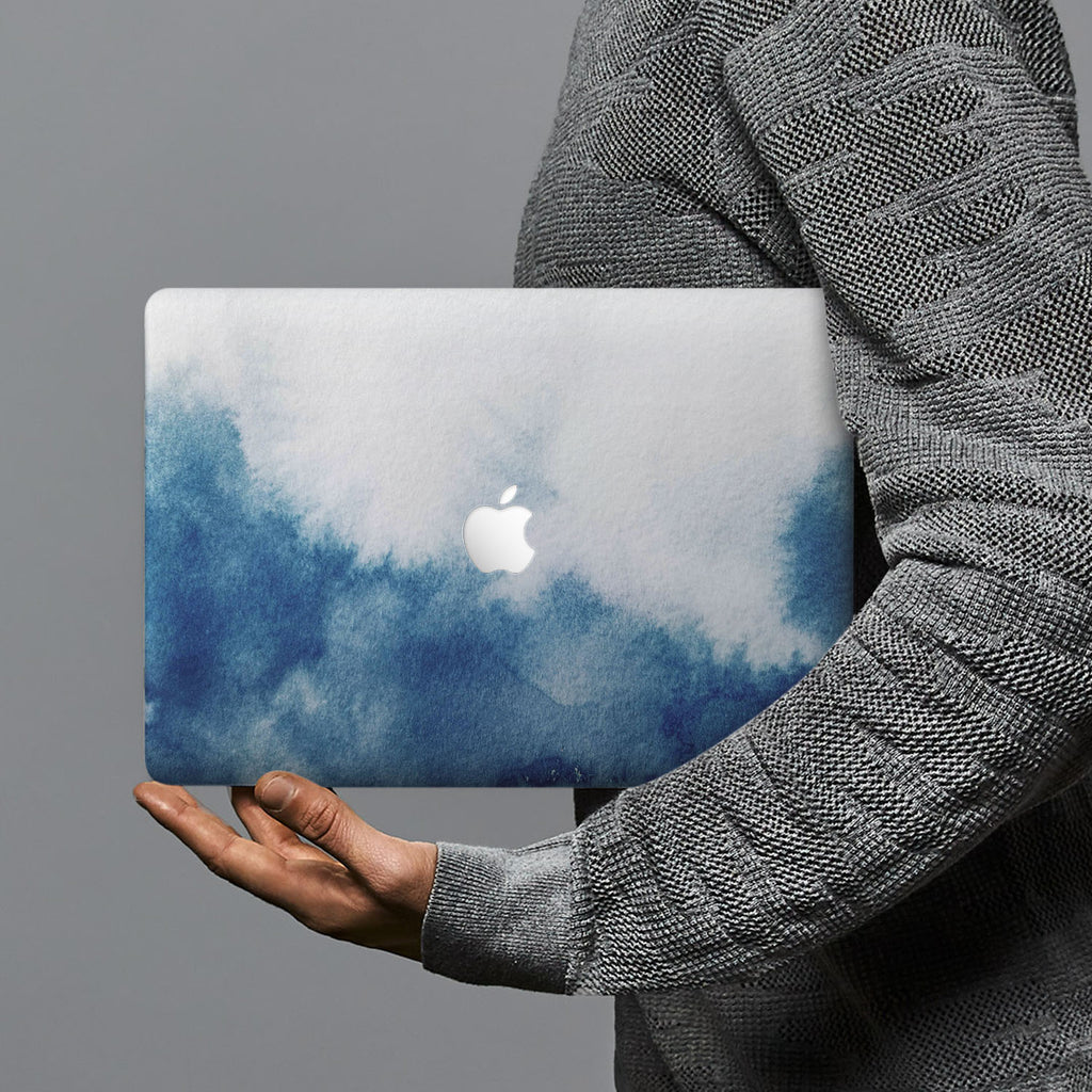 hardshell case with Abstract Ink Painting design combines a sleek hardshell design with vibrant colors for stylish protection against scratches, dents, and bumps for your Macbook