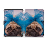 the whole front and back view of personalized kindle case paperwhite case with Dog design