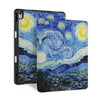 front and back view of personalized iPad case with pencil holder and Oil Painting design