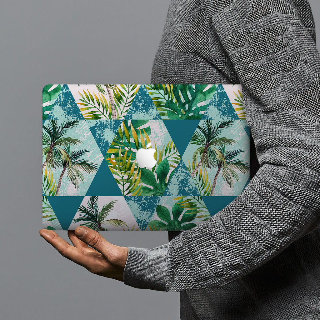 hardshell case with Tropical Leaves design combines a sleek hardshell design with vibrant colors for stylish protection against scratches, dents, and bumps for your Macbook
