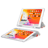 iPad SeeThru Casd with Sweet Design Rugged, reinforced cover converts to multi-angle typing/viewing stand
