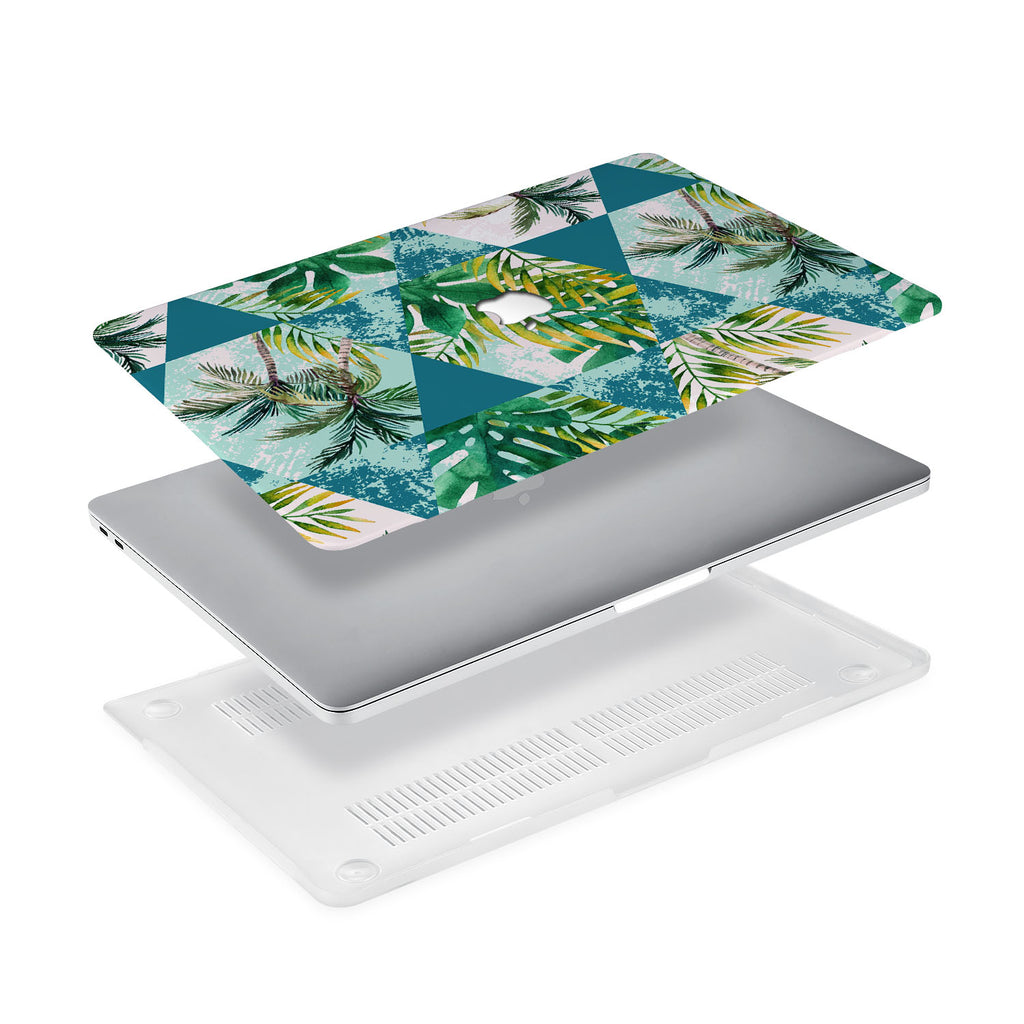 Ultra-thin and lightweight two-piece hardshell case with Tropical Leaves design is easy to apply and remove - swap