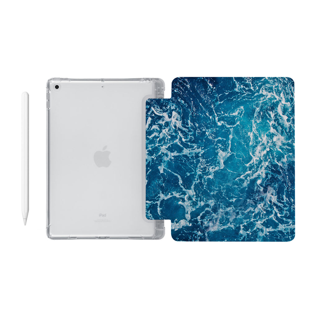 iPad SeeThru Casd with Ocean Design Fully compatible with the Apple Pencil