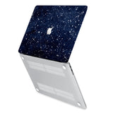 hardshell case with Galaxy Universe design has rubberized feet that keeps your MacBook from sliding on smooth surfaces