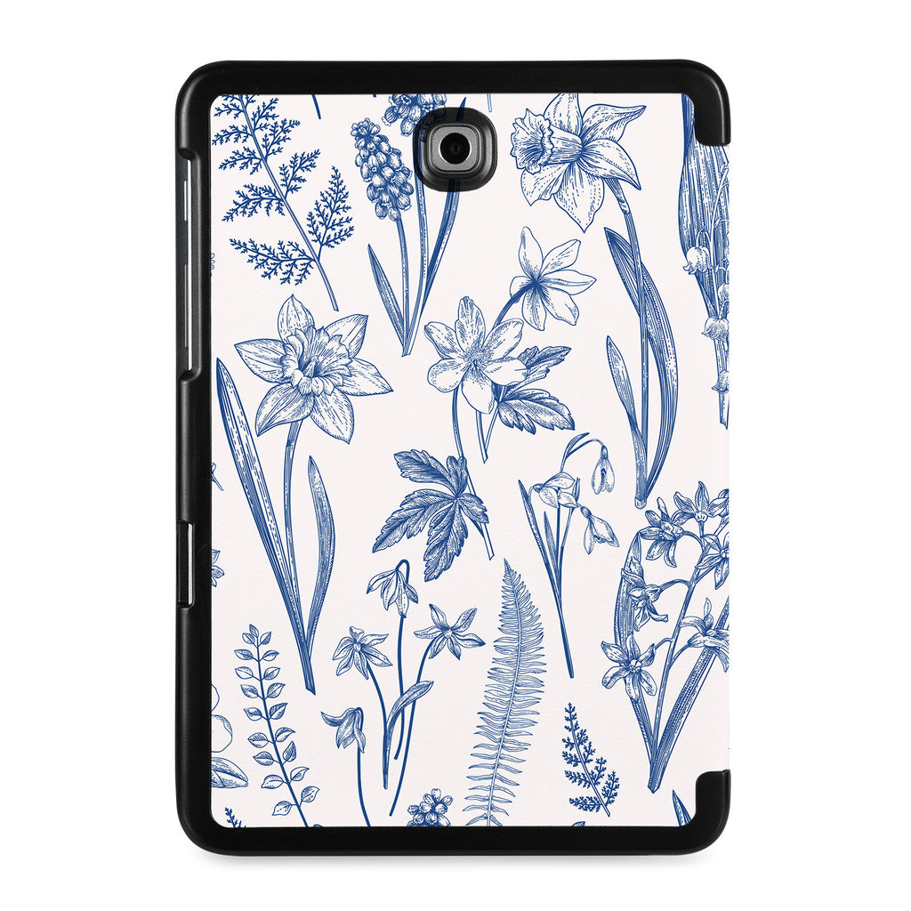 the back view of Personalized Samsung Galaxy Tab Case with Flower design