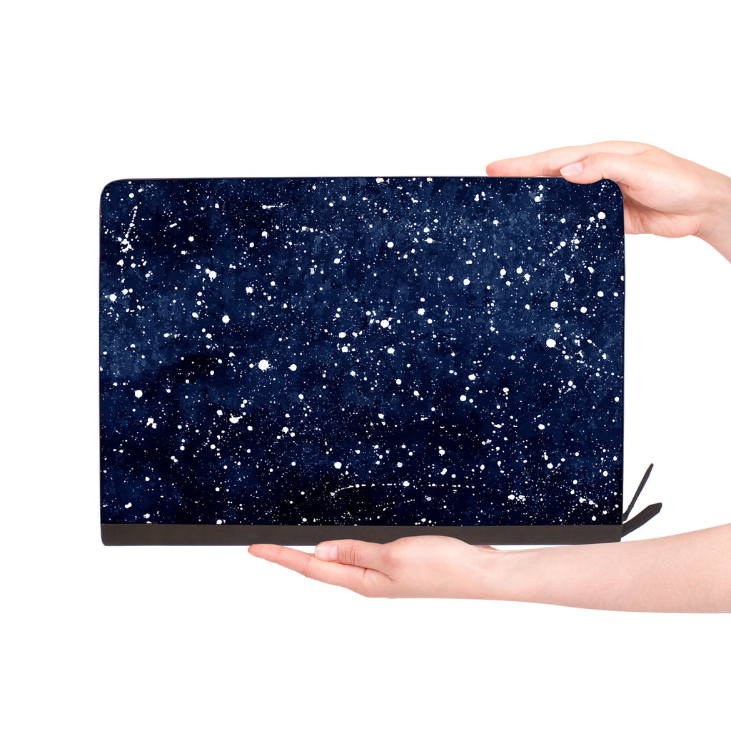 macbook air inside of personalized Macbook carry bag case with Galaxy Universe design