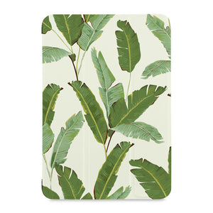 the front view of Personalized Samsung Galaxy Tab Case with Green Leaves design