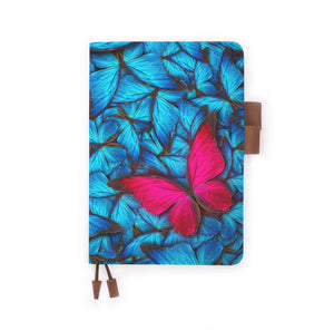 the front view of papermarker's diary with Butterfly pattern