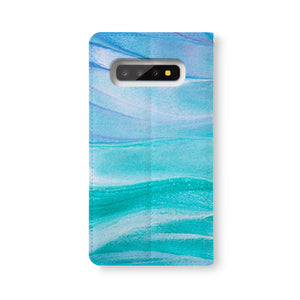 Back Side of Personalized Samsung Galaxy Wallet Case with AbstractPainting2 design - swap
