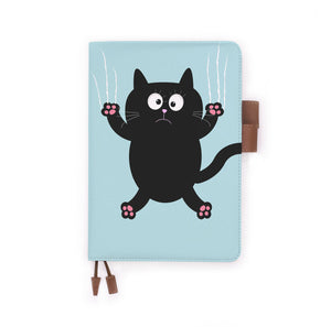 the front view of papermarker's diary with Cat Kitty pattern