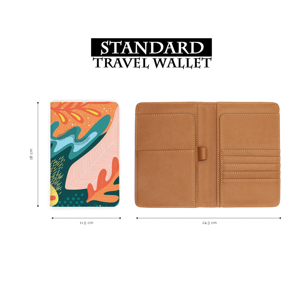 standard size of personalized RFID blocking passport travel wallet with Collage Patterns design