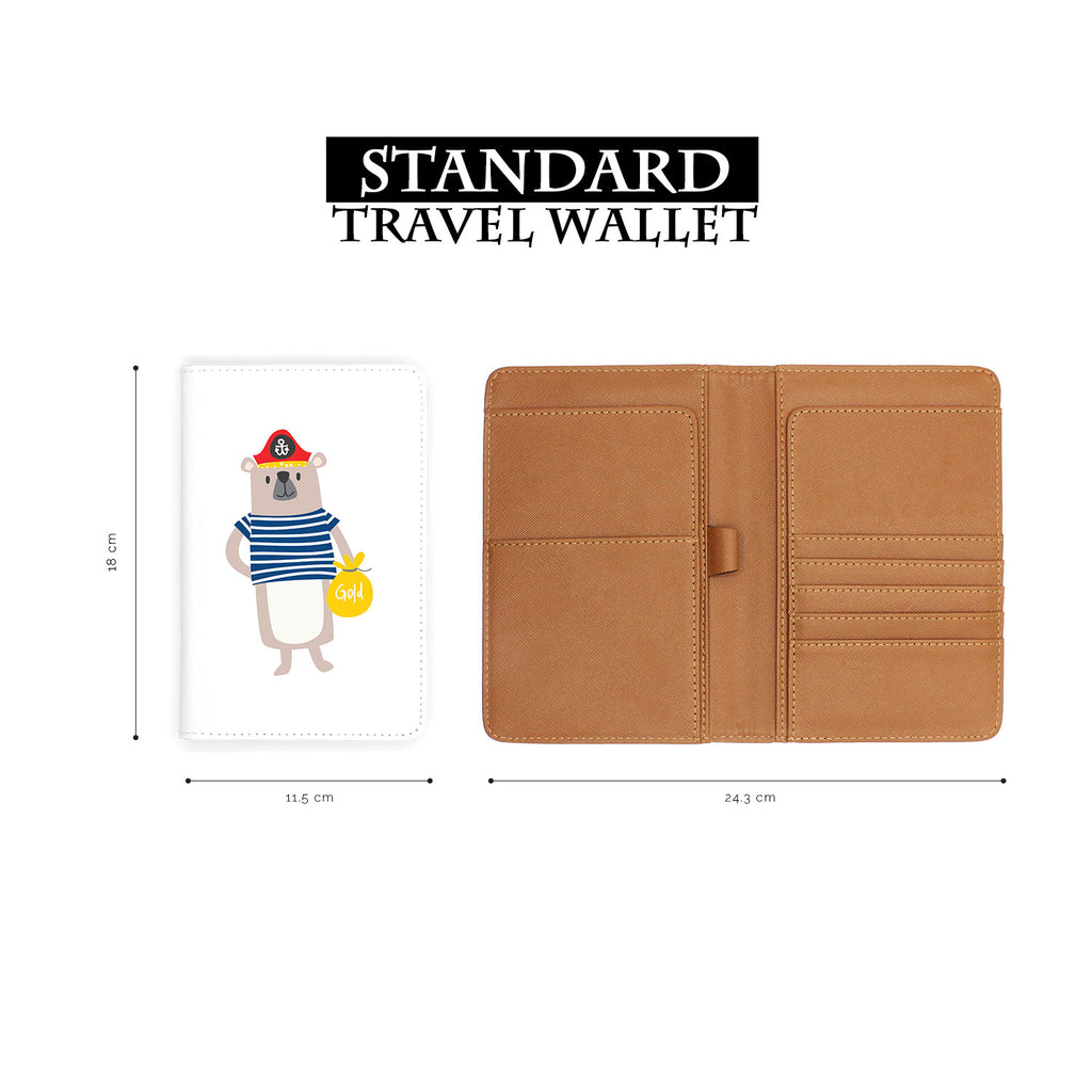 standard size of personalized RFID blocking passport travel wallet with Captain design