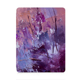 front view of personalized iPad case with pencil holder and Abstract Painting 2 design