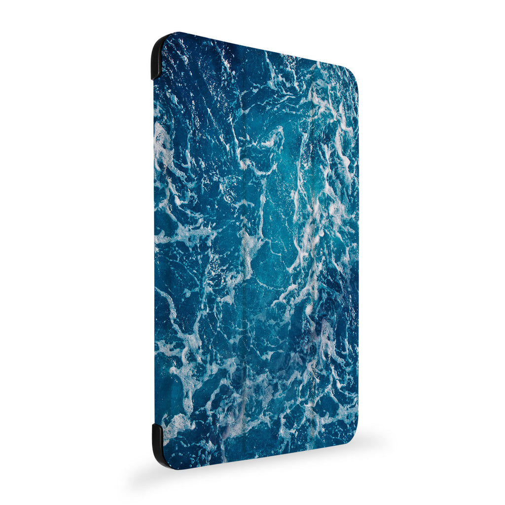 the side view of Personalized Samsung Galaxy Tab Case with Ocean design