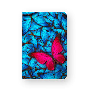 front view of personalized RFID blocking passport travel wallet with Butterfly design