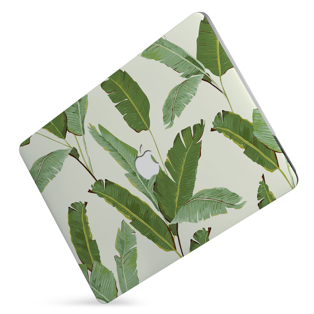 Protect your macbook  with the #1 best-selling hardshell case with Green Leaves design