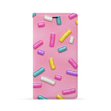 Front Side of Personalized iPhone Wallet Case with Candy design