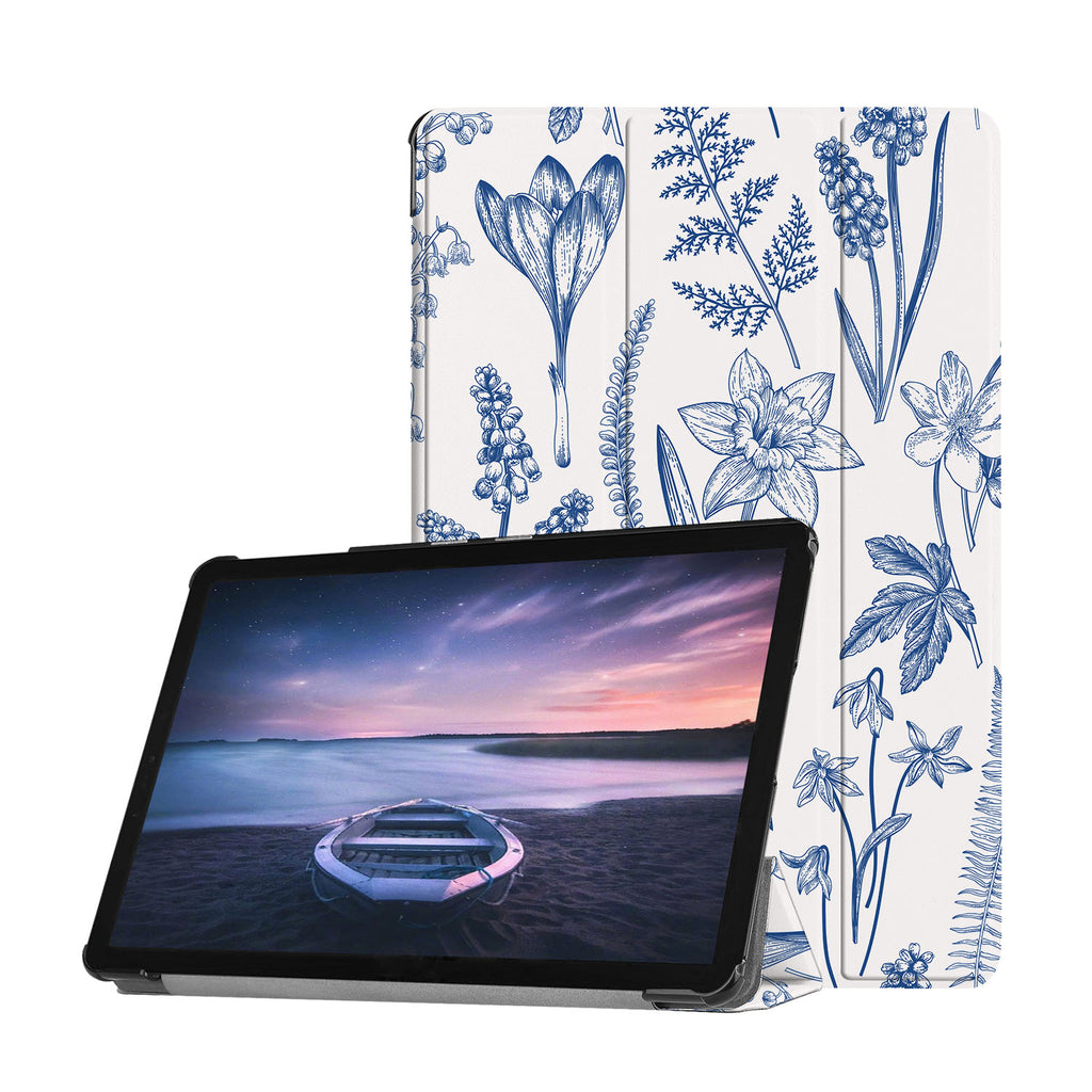 Personalized Samsung Galaxy Tab Case with Flower design provides screen protection during transit
