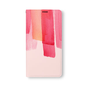 Front Side of Personalized Samsung Galaxy Wallet Case with Watercolor design