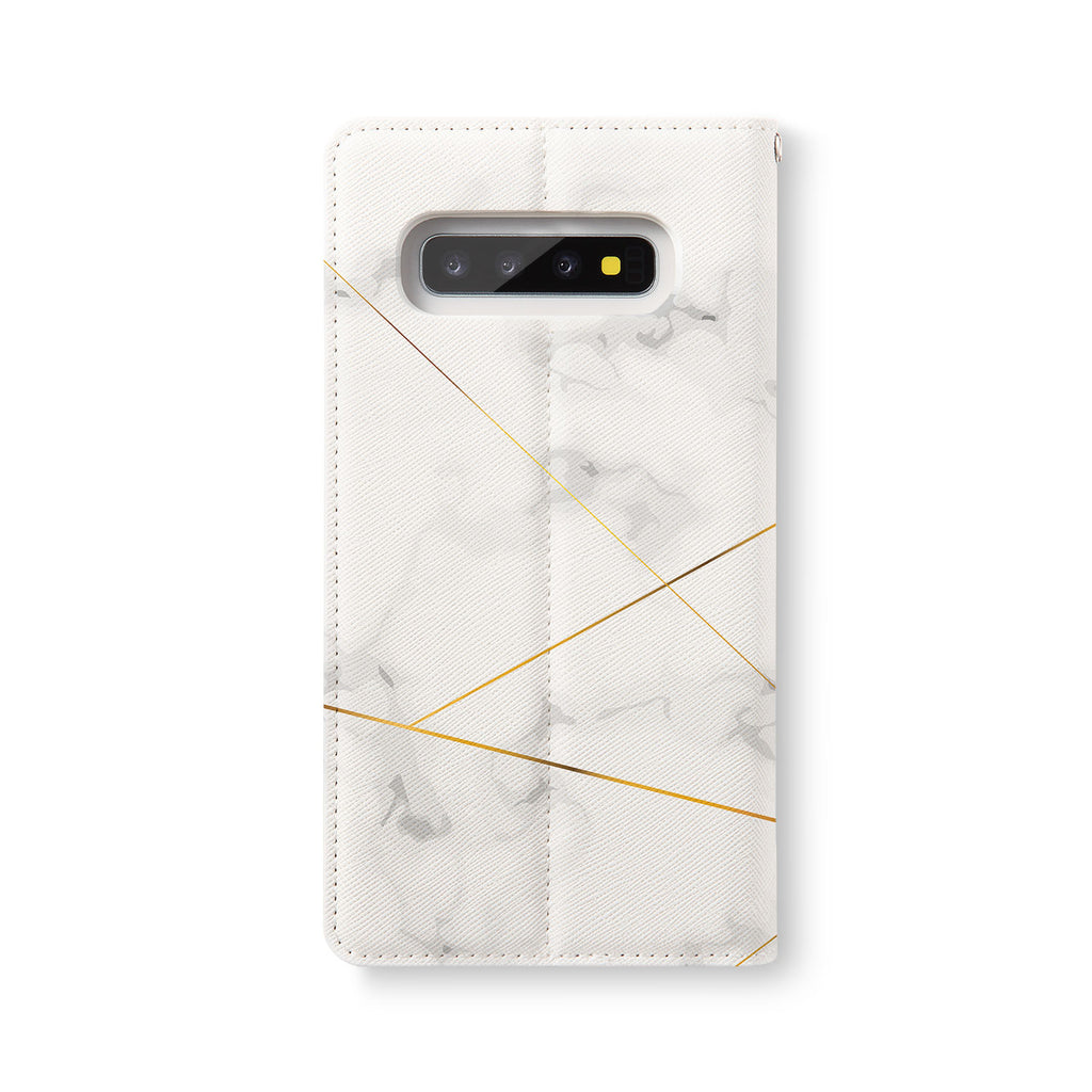 Back Side of Personalized Samsung Galaxy Wallet Case with Marble 2020 design - swap