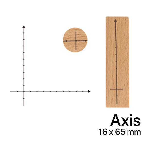 Wooden Rubber Stamp - Axis