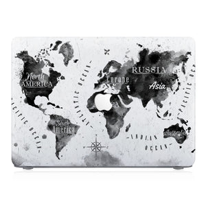 This lightweight, slim hardshell with World Map design is easy to install and fits closely to protect against scratches