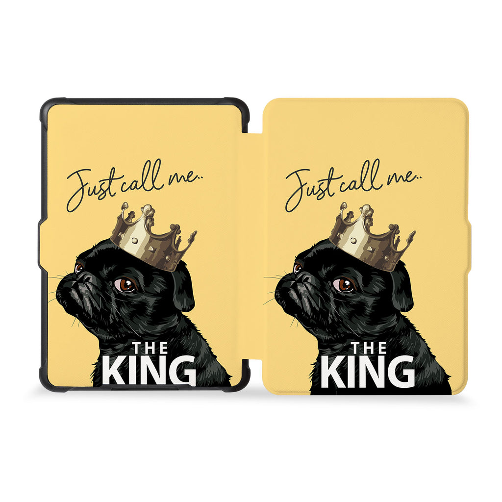 the whole front and back view of personalized kindle case paperwhite case with Dog Fun design
