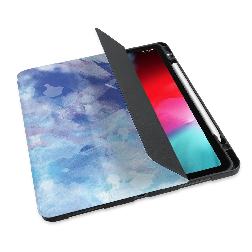 personalized iPad case with pencil holder and Watercolor Abstract 1 design
