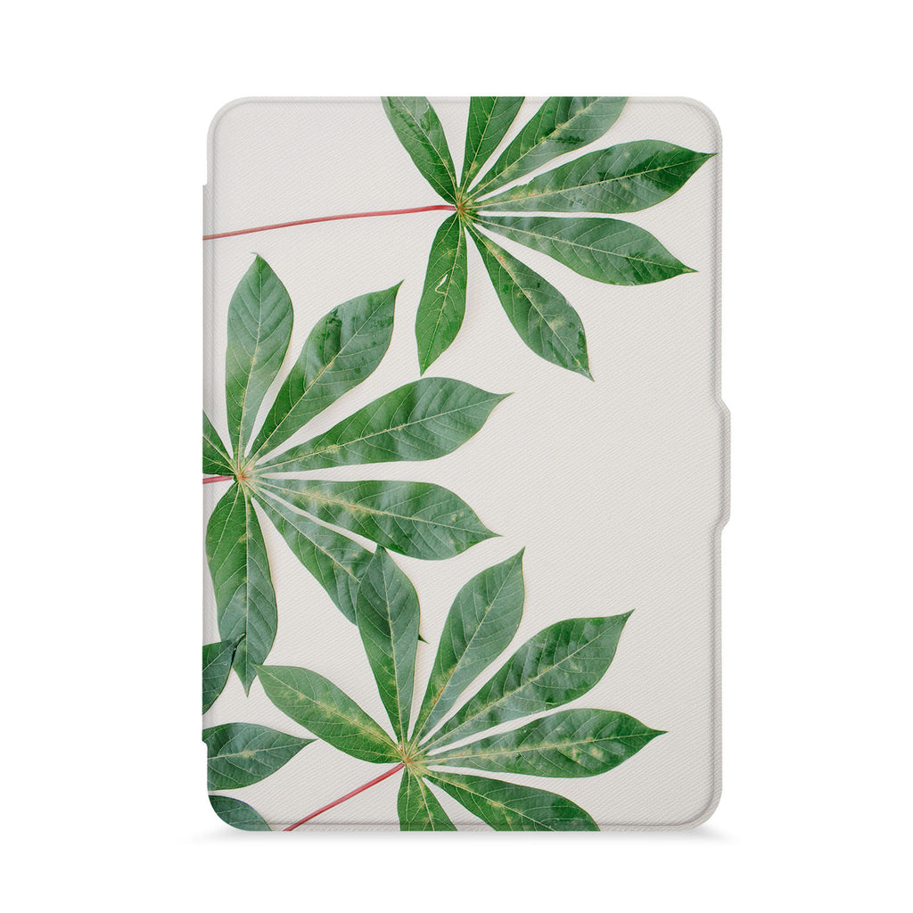 front view of personalized kindle paperwhite case with Flat Flower design - swap