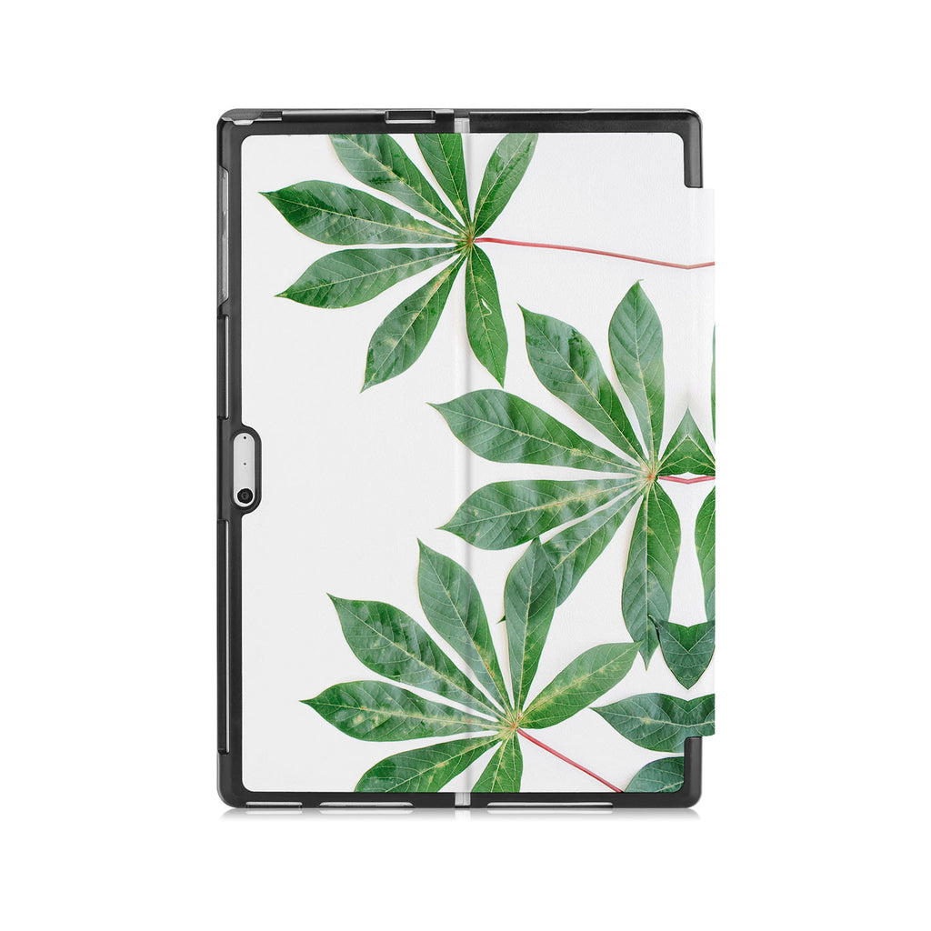 the back side of Personalized Microsoft Surface Pro and Go Case with Flat Flower design